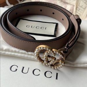Gucci Accessories - Gucci GG pearl thin belt size 85